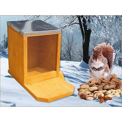 Eichhörnchen Futterhaus Futterautomat Futterstation Holz Plexiglas Zinkdach