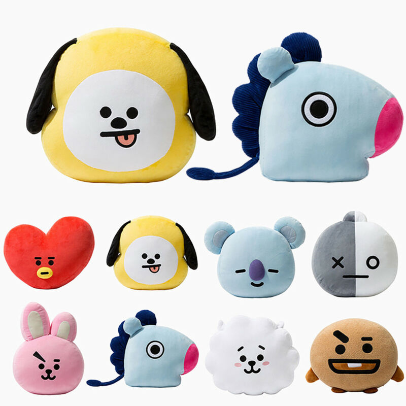 Plüsch Puppe Kissen Spielzeug KIDS KPOP BTS BT21 TATA SHOOKY RJ SUGA COOKY JIMIN