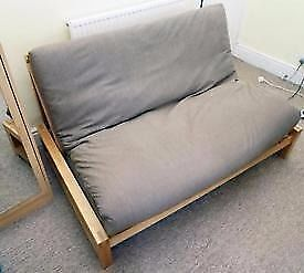 Futon Company Linear Sofa Bed Birch Wood Base Thick Sofabed Mattress Cost 649 New