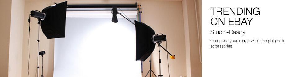 Trending on eBay | Studio-Ready | Compose your image with the right photo accessories