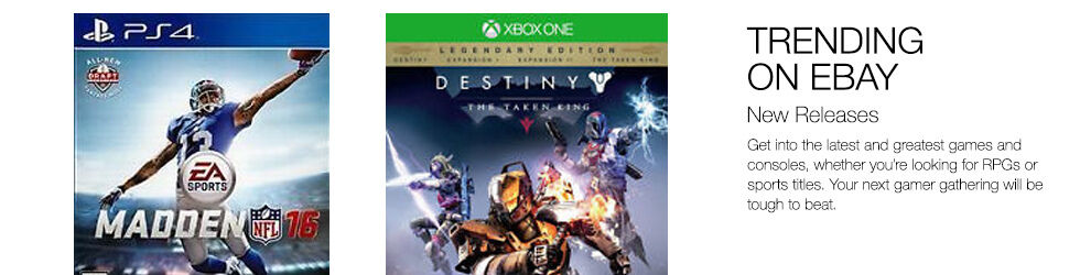 Trending on eBay   New Releases   Get the latest and greatest games and consoles