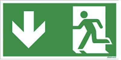Fluchtweg Notausgang Schild Aufkleber Folie - selbstklebend - ASR A1.3
