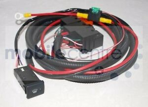 Land Rover Defender heated windscreen wiring kit with switch Td4 Puma & Td5 | eBay