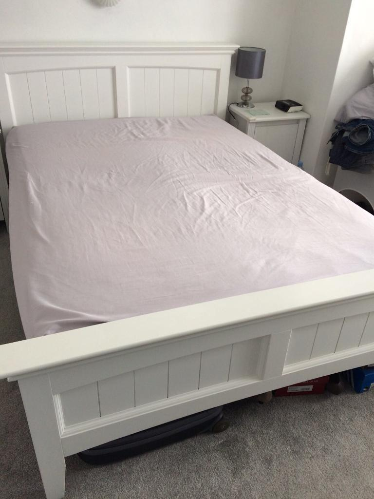 dreams white wooden bed frame sprung slats in Double Bed Slats id=80994