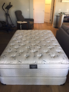 Double Mattress And Box Spring Barely Used Excellent Condition
