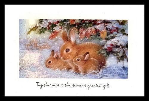 Rabbit Christmas Cards EBay