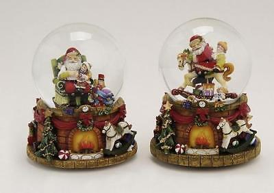 Spieluhr Schneekugel Nostalgie Weihnachtsmann Spieldose weihnachtliche Melodie