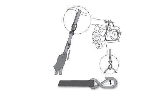 cinghie per carrello trasporto fissaggio ancoraggio ferma moto Acerbis nero 1