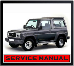 Daihatsu Rocky Feroza F70 F75 F77 Repair Service Manual IN
