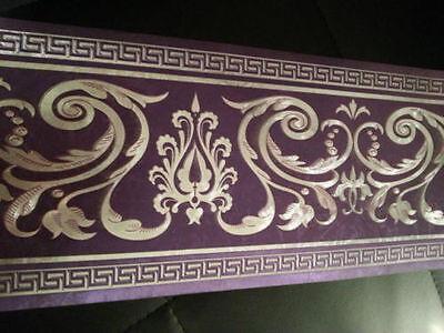 wunderschöne Barock Bordüre lila ,VERS 5m lang 17,7 cm breit