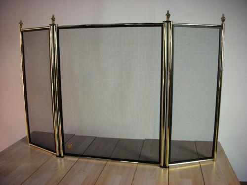 Fireplace Screens - Stained Glass, Brass And Iron