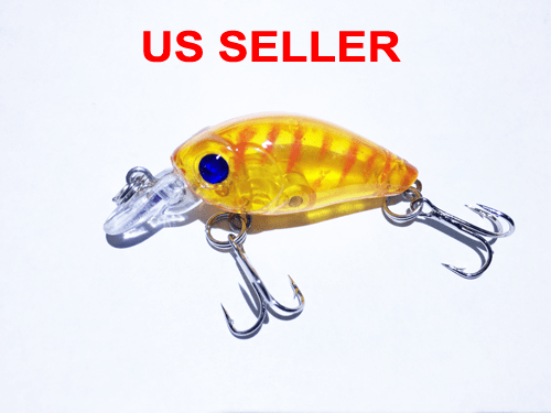 USA Lot PCS Fishing Lures CrankBaits Hooks Baits Tackle Spinner frog shrimp Box 9