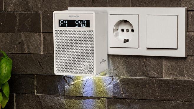Steckdosenradio mit Bluetooth-Rein in die Steckdose und Musik an-Weiß**NEU&OVP**