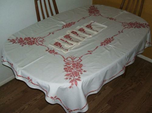 Embroidered Tablecloth EBay