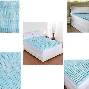 Cooling Gel Foam Mattress Topper Pad Bed Queen Size 2