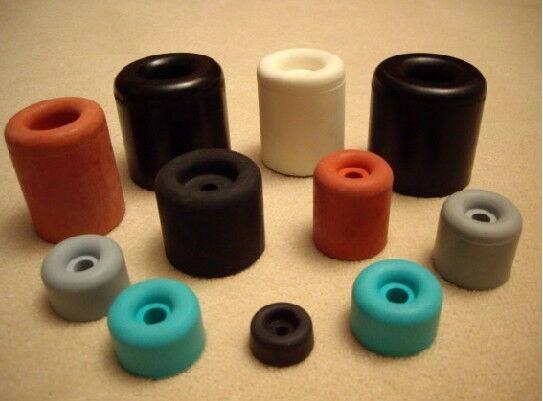 Gummipuffer, Türpuffer, Türstopper 16Øx07 - 40Øx50 mm, schwarz, rot, grau, weiss