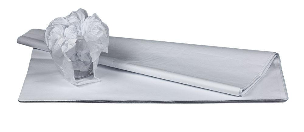 Packseide in 3 Sorten Seidenpapier Geschirrpapier hochweiß, braun o. grau