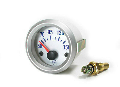 Öltemperatur Anzeige Zusatz Instrument 52mm silber
