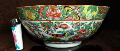 Antique Chinese Famille Rose Mandarin porcelain bowl Nr 1