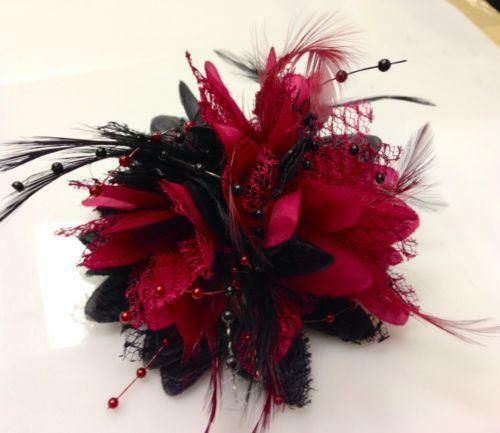 Red And Black Fascinator EBay