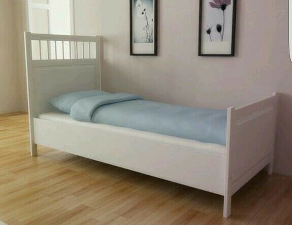 Ikea Hemnes White Single Bed Frame In Motherwell North