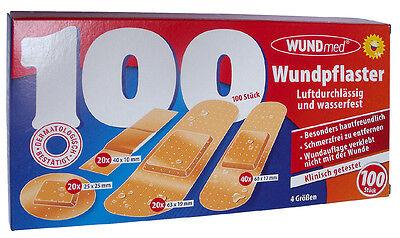 Pflaster Wundpflaster Wundmed 100 Stk. wasserfest Set Erste Hilfe Verband 05-000