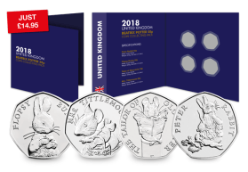 2018 Complete Beatrix Potter Coin Collecting Pack [Ref 859K]