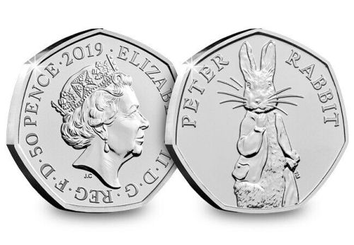 2019 UK Peter Rabbit CERTIFIED BU 50p [Ref: 203P]