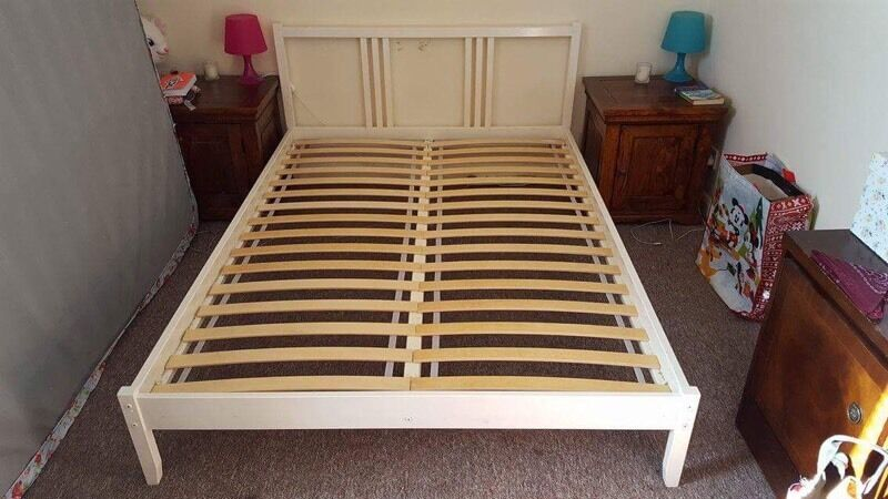ikea fjellse bed frame with luroy slats in on Double Bed Slats id=93586