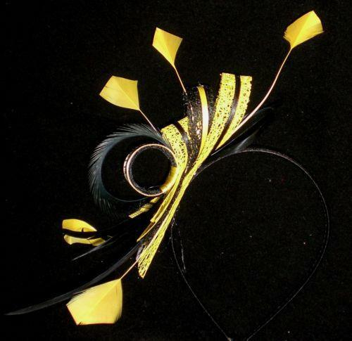 Black Yellow Fascinator EBay