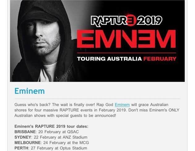 Eminem Tour Dates 2019 Australia | Myvacationplan org