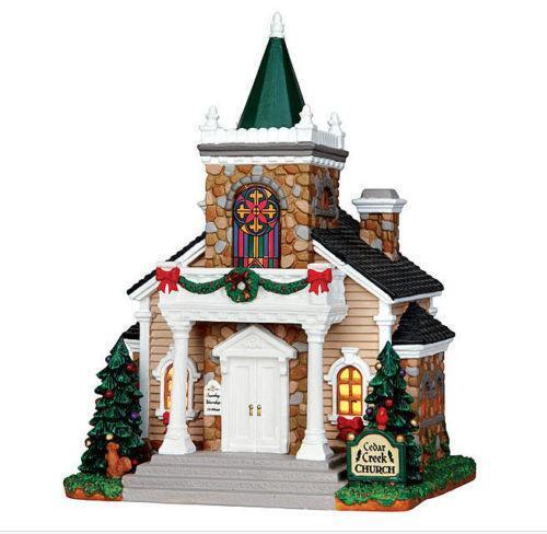 Christmas Village Church EBay