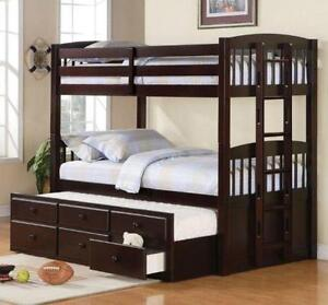 Lord Selkirk Furniture Kingston Twin Bunk Bed With Captain Trundle Drawers