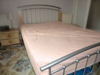 Very Attractive 4 6 X Double Bed With Mattress Included