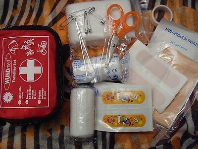 Erste Hilfe Set-Travel Set / Notfall Kit 32 Teile + Tasche - Sicherheit on Tour