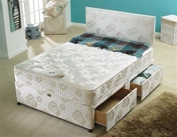 Supreme Quality Brand New Double Divan Bed With 12 Super Orthopaedic Mattress