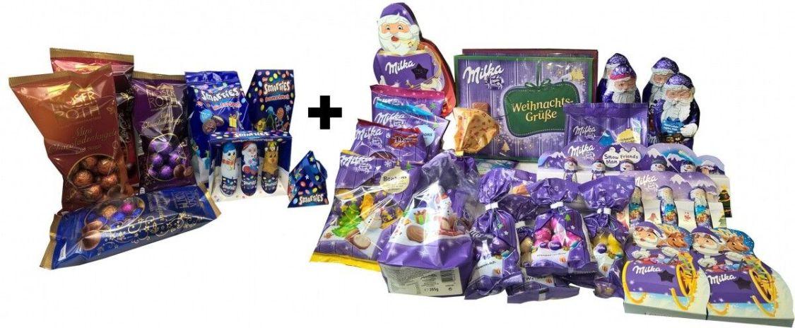 XXXL Weihnacht Schokoladen Paket MILKA SMARTIES und mehr..2739g