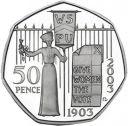 RARE SUFFRAGETTE 50p COIN 2003 GIVE WOMEN THE VOTE