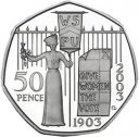 RARE SUFFRAGETTE 50p COIN 2003 GIVE WOMEN THE VOTE