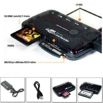 Card Reader 25in1 Kartenlesegerät Speicherkarten extern USB 2.0 Karten Leser NEU