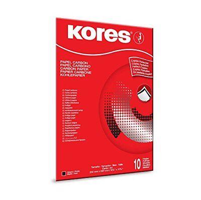 10 Blatt KORES Kohlepapier DIN A4 schwarz, Pauspapier, Durchschreibepapier