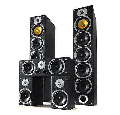 Heimkino System Hifi Stand Lautsprecher 5 Boxen Set 1240 W Surround Sound System