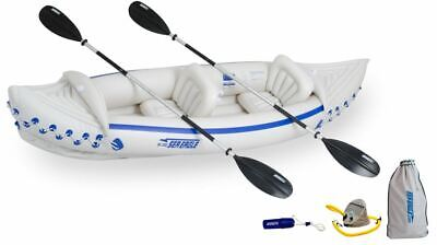 New Sea Eagle 330 Deluxe Inflatable 2 Seat Kayak Canoe, Free Ship, 3 Yr Warranty