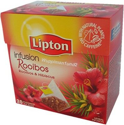 Lipton Tee 20 Beutel Pyramide Rooibos & Hibiscus with natural Plants