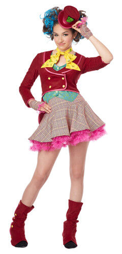 Girls Mad As A Hatter Tween Halloween Costume