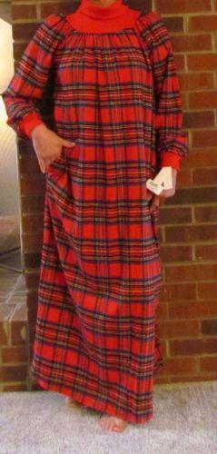 Red Flannel Nightgown Sleepwear Amp Robes EBay