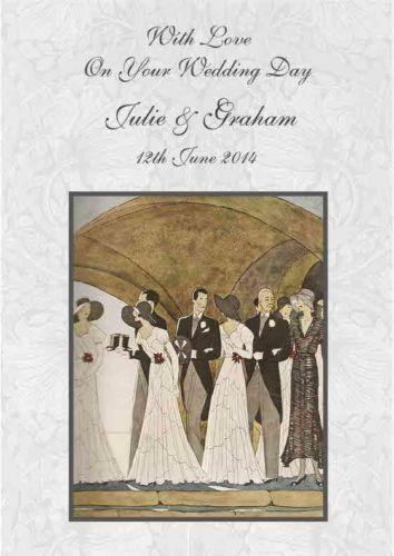 Art Deco Wedding Card EBay
