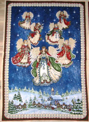 Christmas Angel Fabric EBay