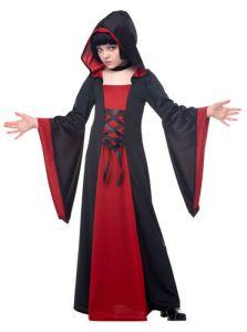Red Hooded Robe Girls Vampire Halloween Costume