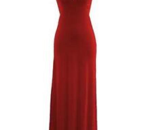Red Halter Neck Maxi Dresses